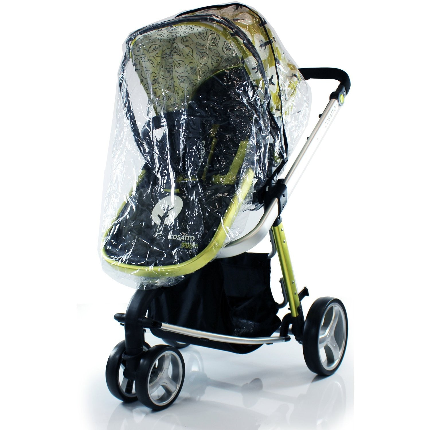 RAIN COVER FOR OBABY ZOOM TANDEM DOUBLE PRAM ZIP 2 RAINCOVER FOR CARRY COT