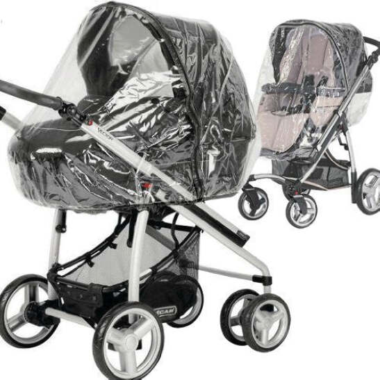 Rain Cover To Fit The Silver Cross Linear Freeway Sleepover Pram
