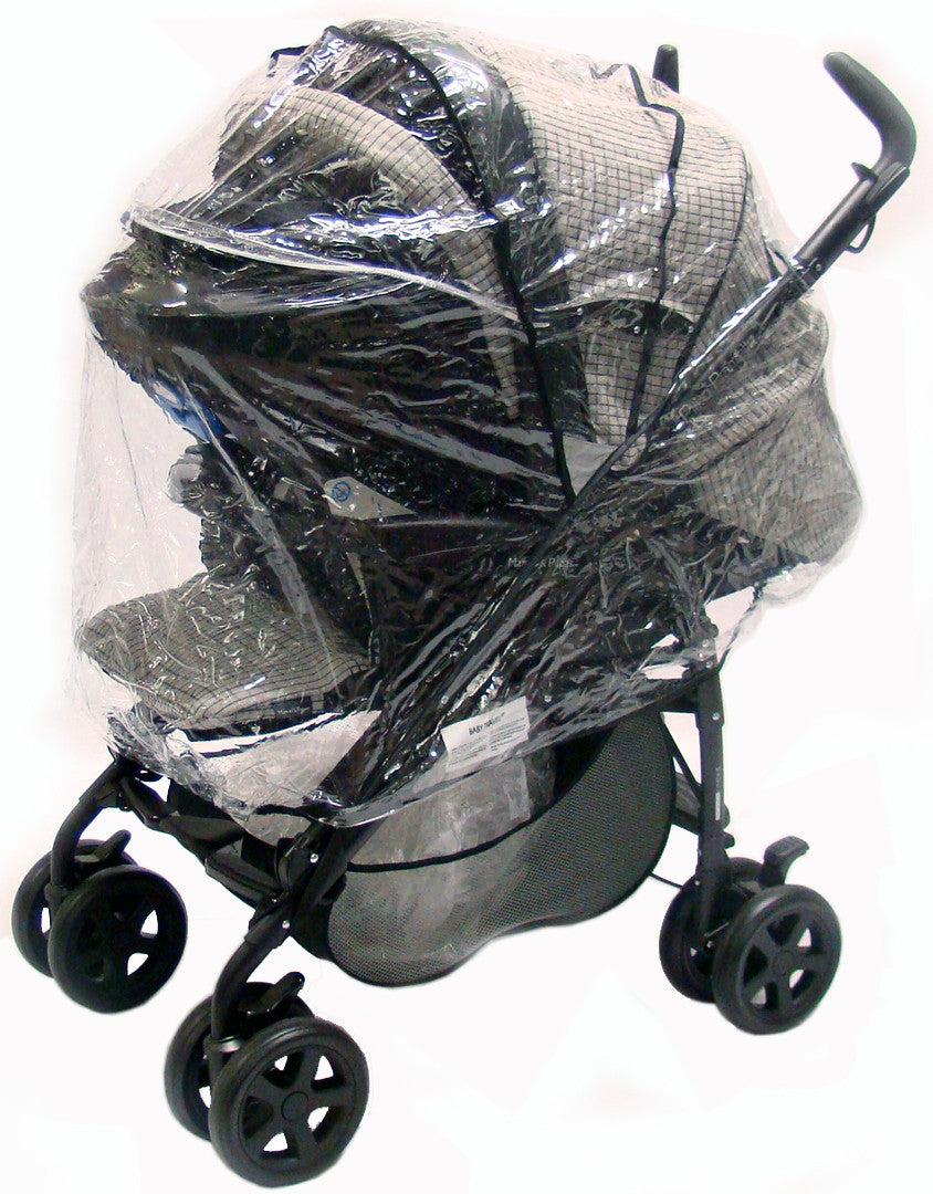 NEW Mamas and Papas URBO2 Grey Trimmed Pram Pushchair Raincover Rain Cover
