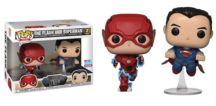 Vinyl Justice League Movie The Flash and Superman Race NYCC 2018 Exclusive Pop