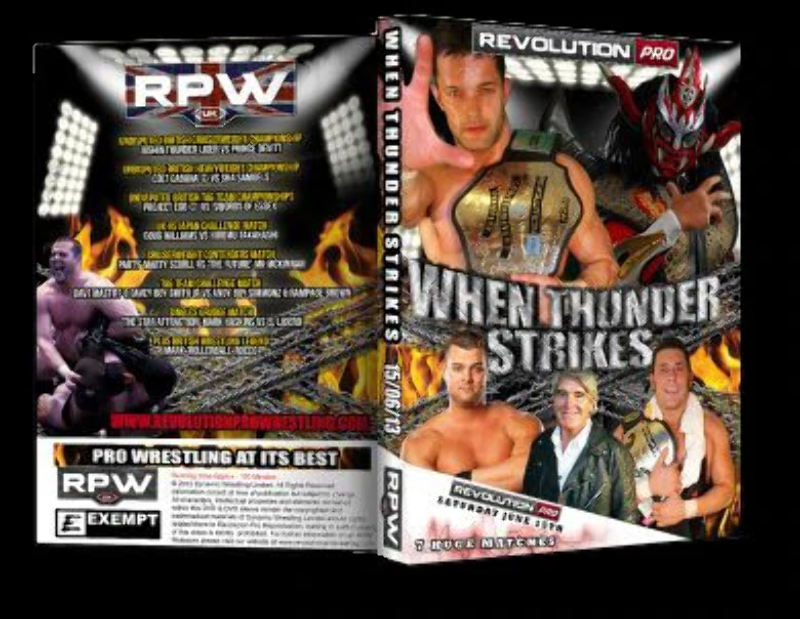 Details about Official RevPro Wrestling - When Thunder Strikes 2013 DVD -  Jushin Thunder Liger