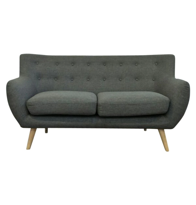 Miraculous Details About Ebba 2 Seater Sofa Grey Loveseat Modern Mid Century Scandinavian Fabric Dailytribune Chair Design For Home Dailytribuneorg