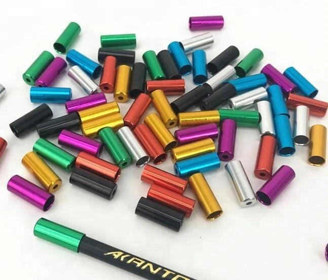 Details about  /End Cap Ferrules Brake Gear Outer Cable 4mm 5mm Anodised Alloy 10 Pack