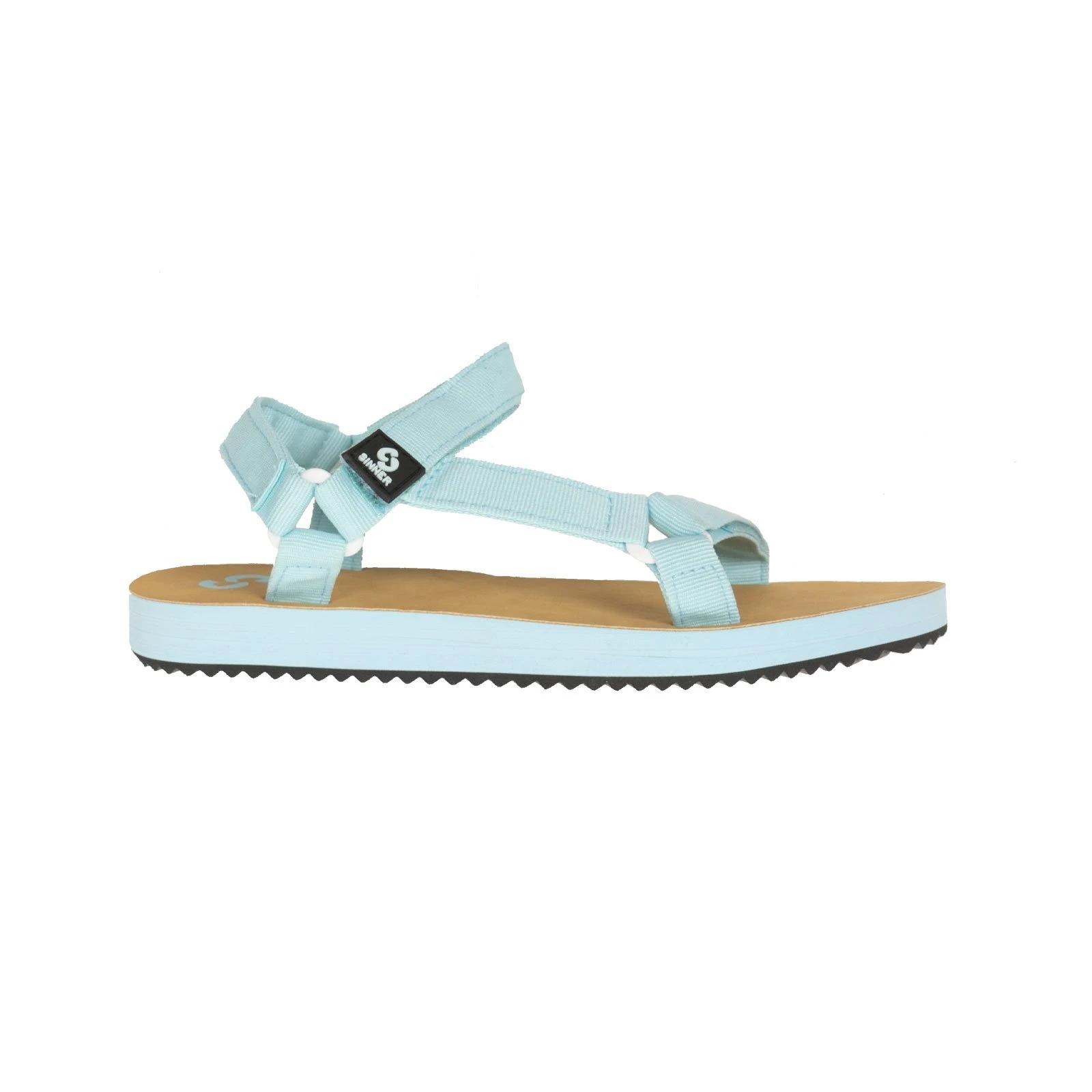 Womens Sinner Buton Sandals Light Blue