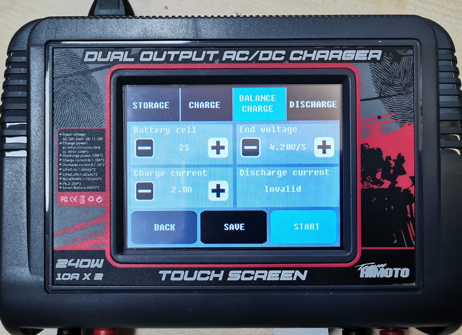 Himoto C624 écran Tactile Double Sortie AC//DC 240 W 10 A Balance Chargeur #C624
