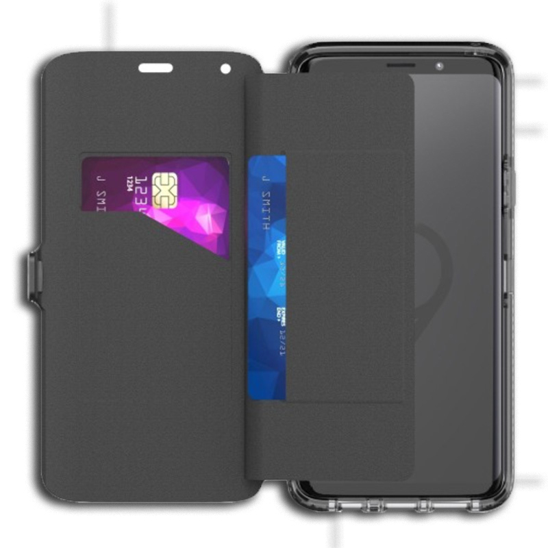 super popular 7ff3f b6ea1 Details about Tech21 Evo Wallet Case For Samsung Galaxy S9+ Plus - Black