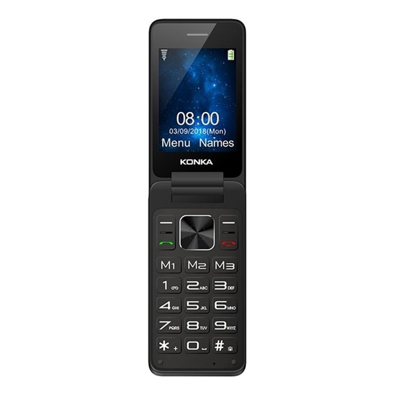 [Au Stock] - Konka FP1 (3G, Keypad, Flip Phone) - Space Grey  eBay