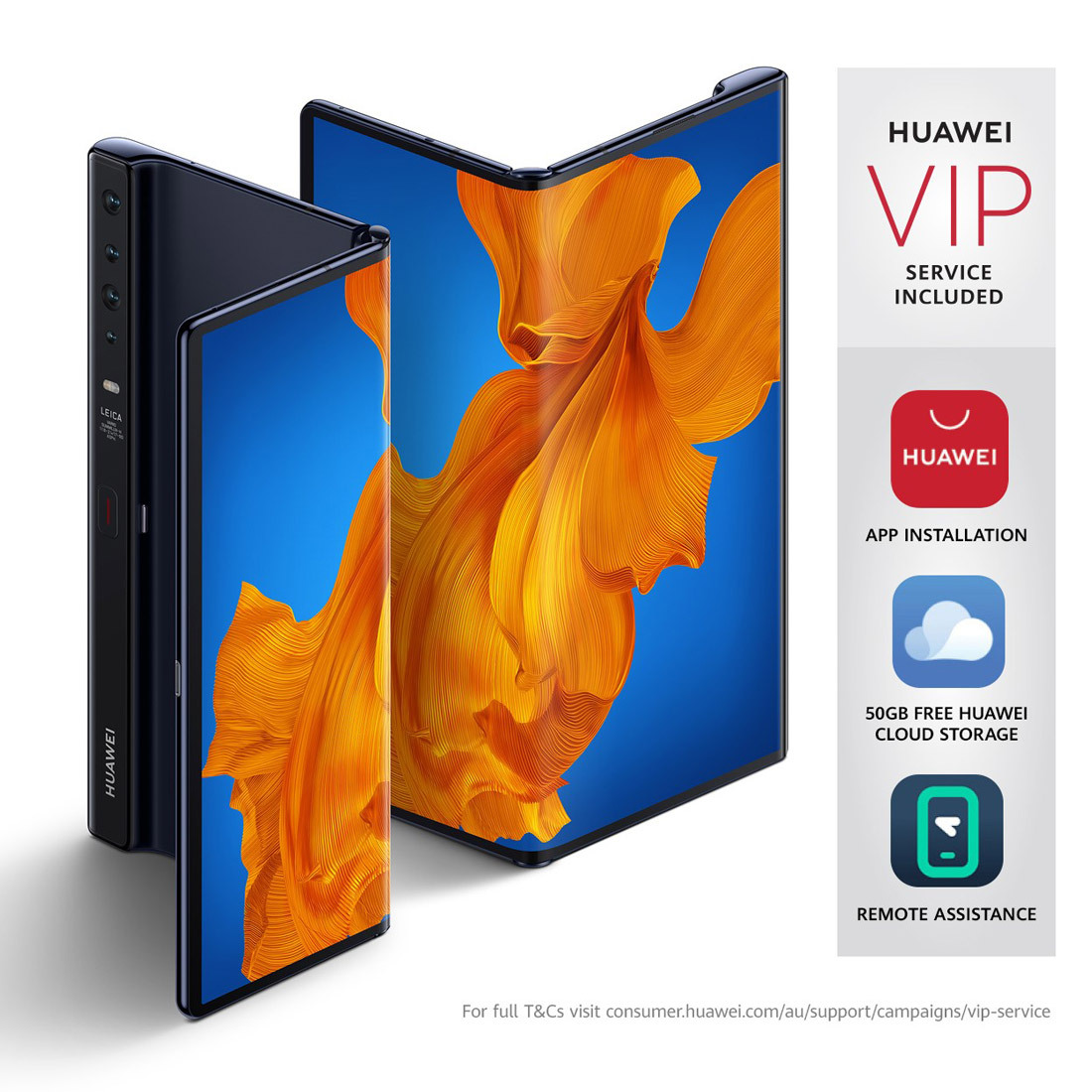 """Huawei Mate Xs 5G (8"""" Foldable FullView Display, Available Now) - Interstellar Blue - [Au Version]"""