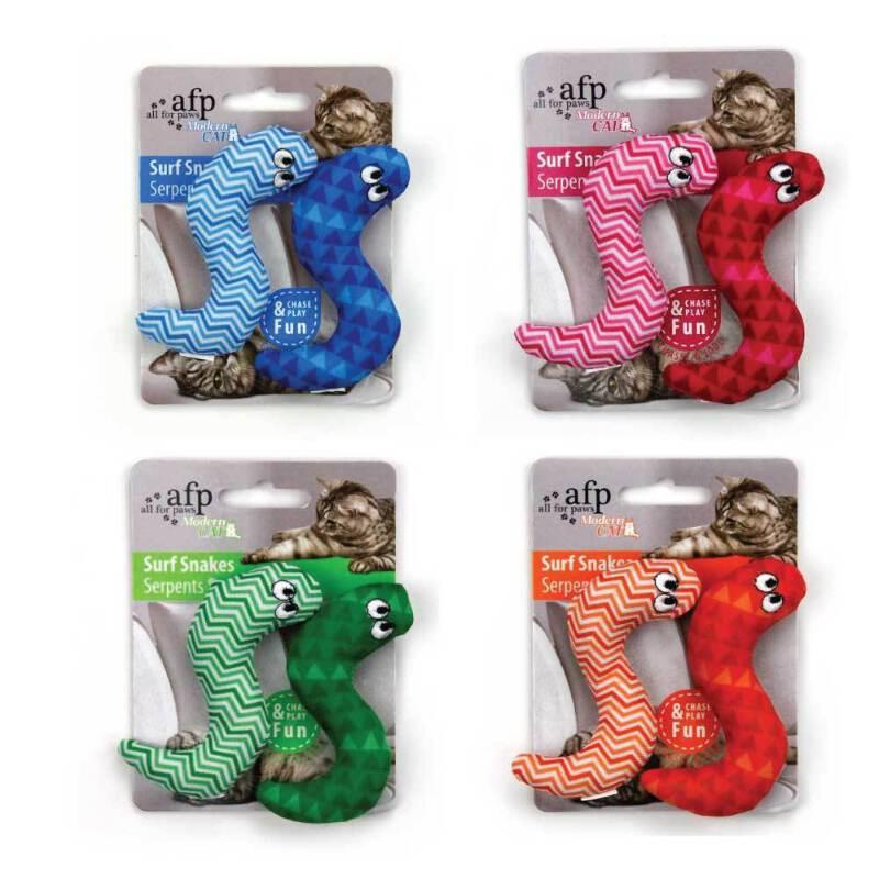 Catnip Cat Toy Surf Snake All For Paws Pet Chase 9cm Crinkle Snakes Toys Teaser Ebay