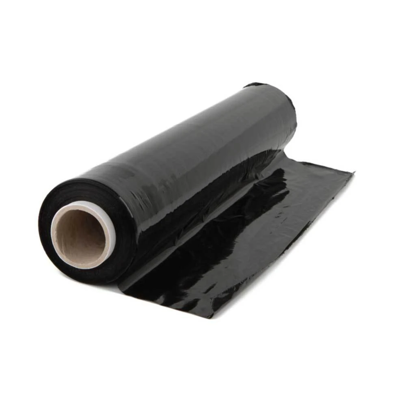 Details about 500mmx300m Eco Black Pallet Plastic Wrap Shrink Wrapping Film  Max Stretch Roll