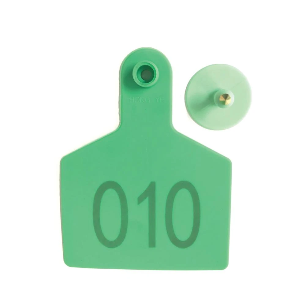 100x Cattle Ear Tags 5x4cm Set Cow Sheep Goat Green Small Blank Livestock Label