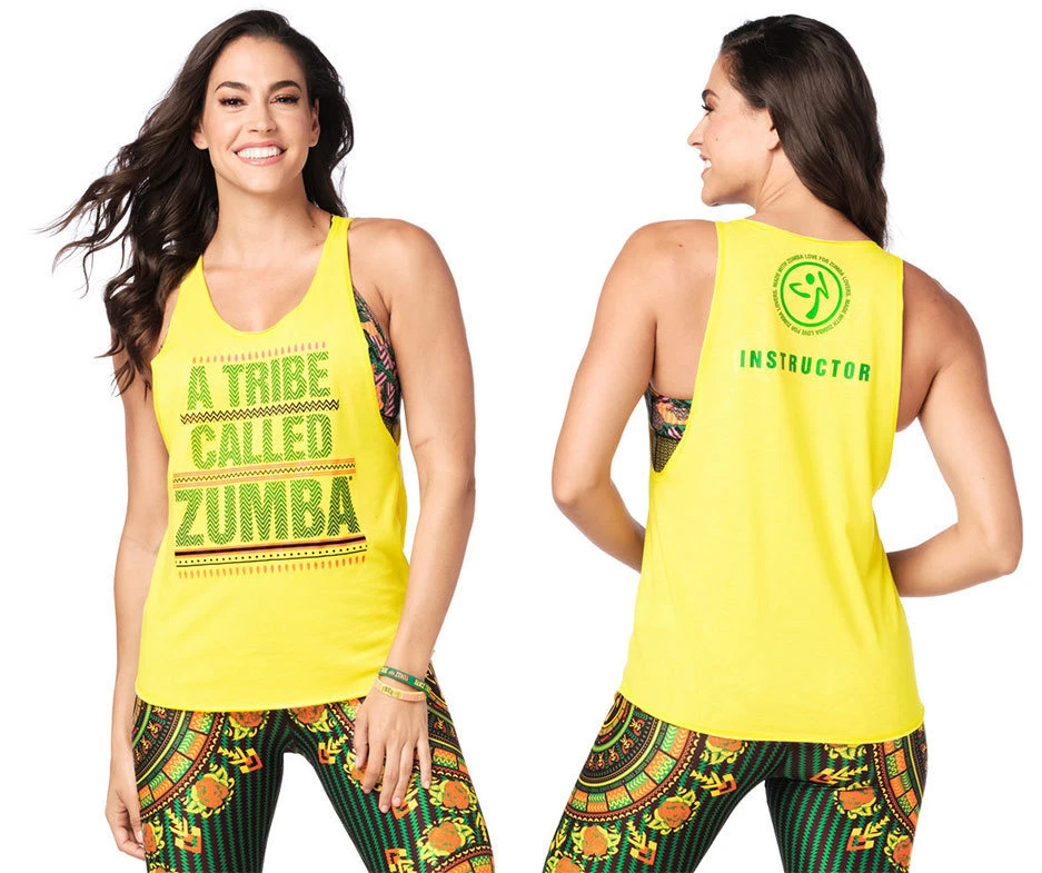 Zumba For All Tank Top Sunrays ~ All Sizes Free Shipping!