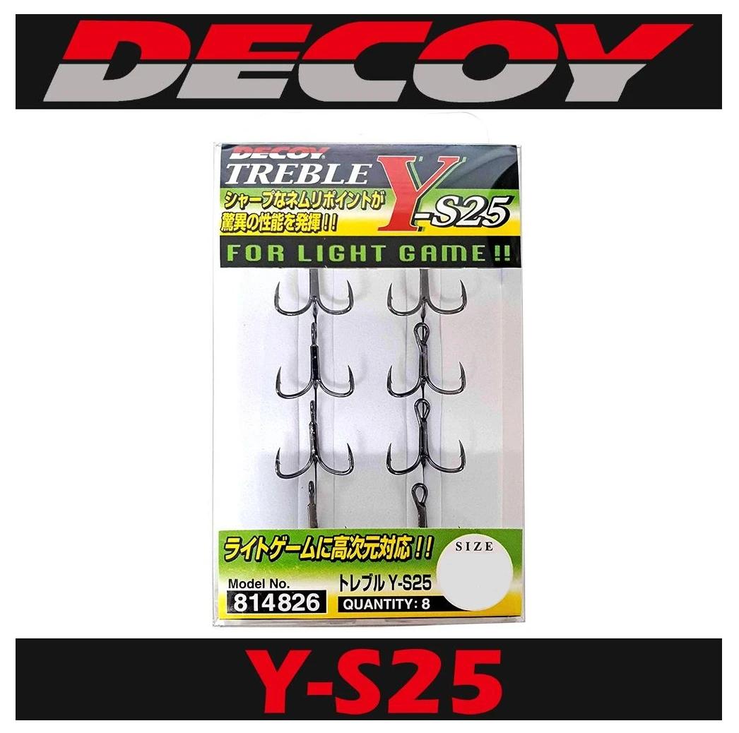 Decoy Y-S25 Treble Hook Light Game Treble Hooks Size 12 4819
