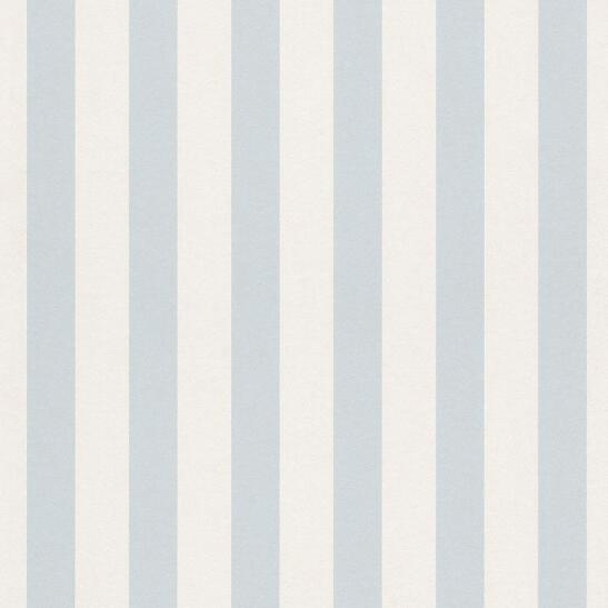 Details About Bambino Light Blue And White Stripe Wallpaper By Rach 246025