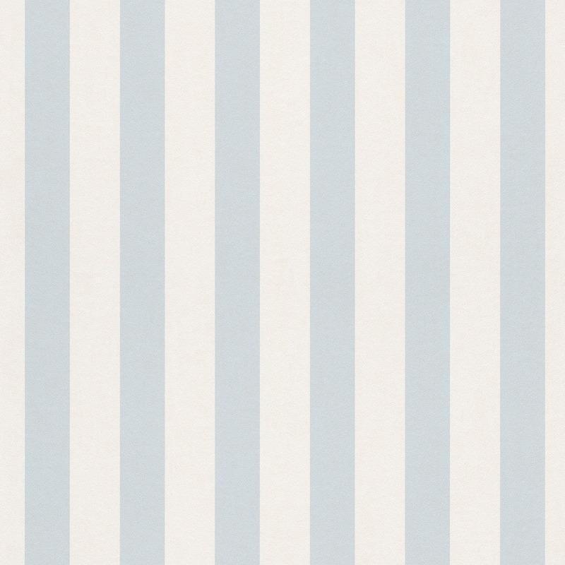 Rasch Bambino Navy Blue White Stripe Wallpaper 246049