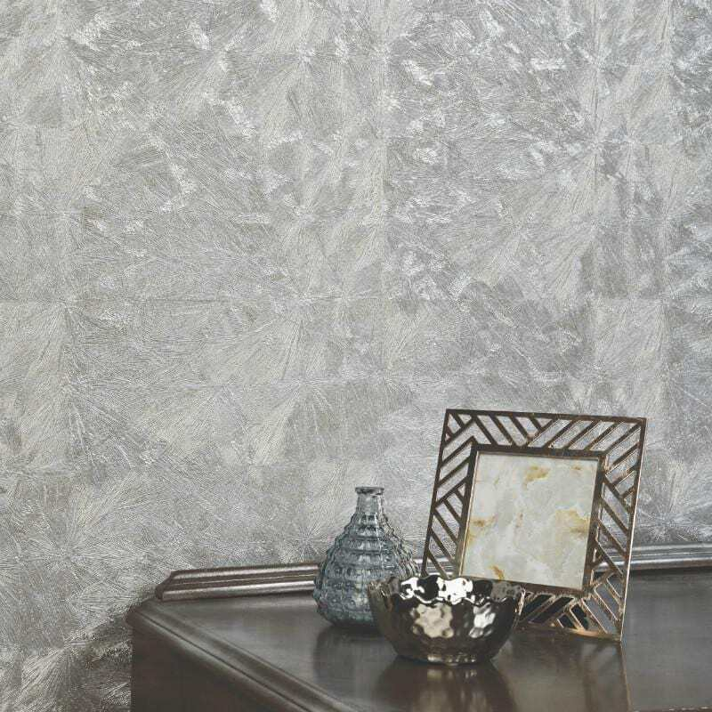 Details About Silver Grey Heavyweight Textured Wallpaper Opus Enrica By Holden 35861