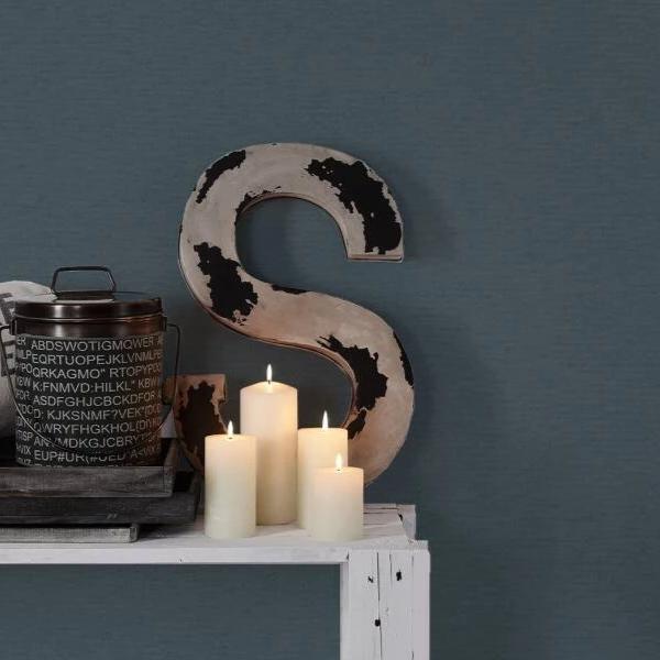 Ethnic Origin Plain Black Fabric Effect Texture Wallpaper Paste the Wall 37178-1