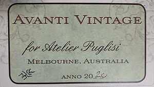 Avanti Vin label
