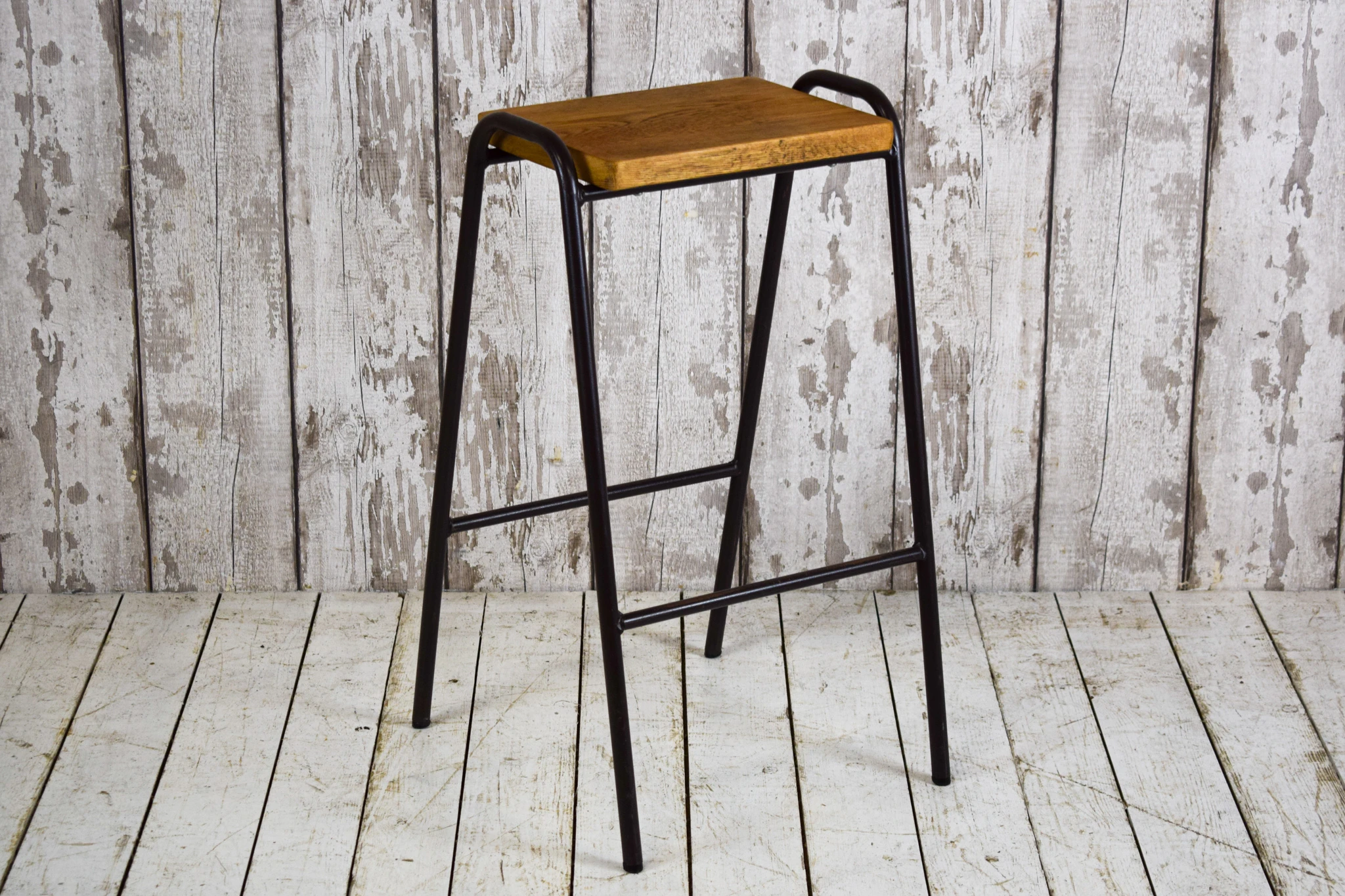 40 Available Vintage Industrial Stacking Cafe Bar Chairs