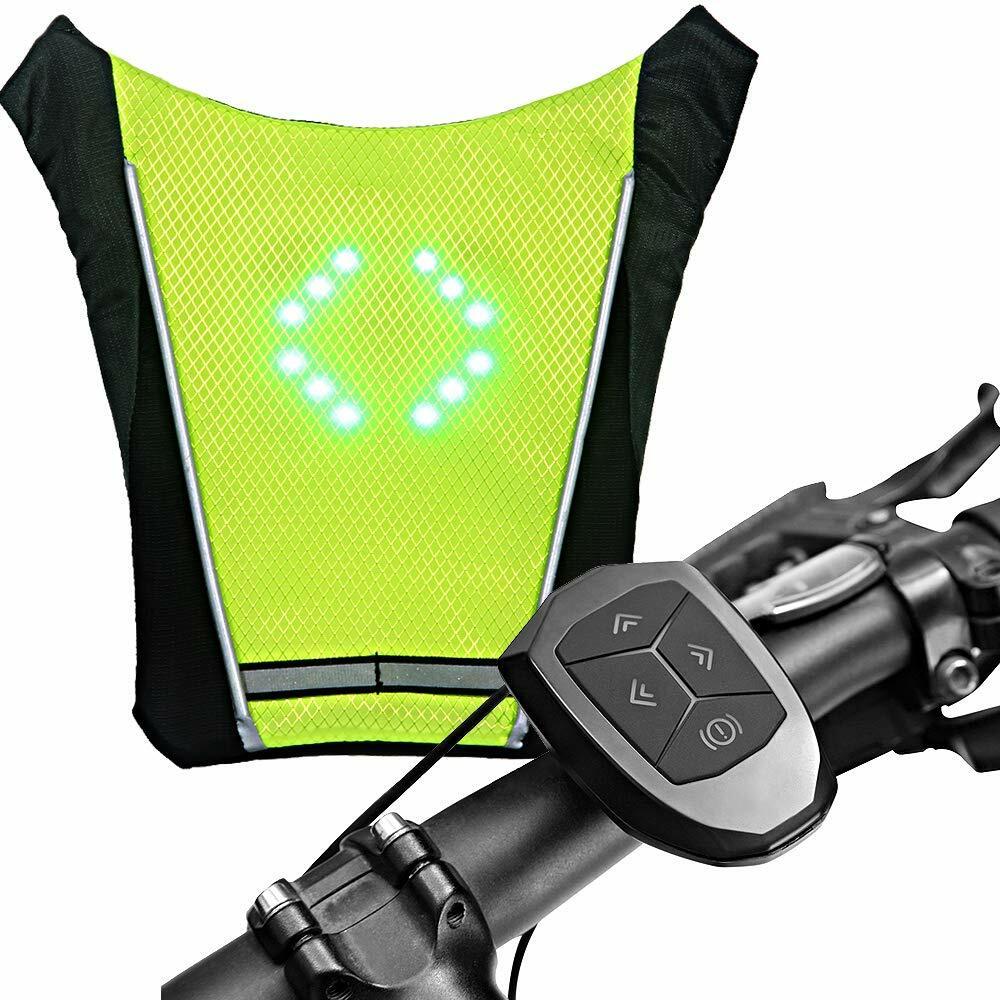 XTPower® LED Turn Signal VestWireless RemoteGuiding Light Reflective Lumin