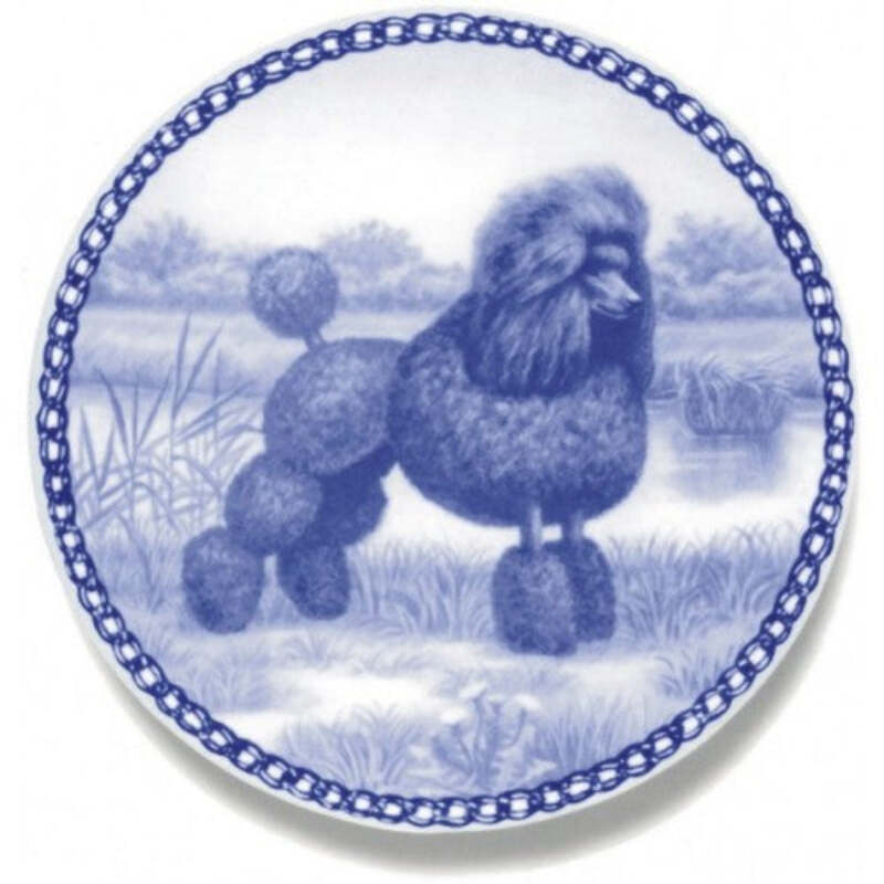 Standard Poodle Dog Plate Made In Denmark From The Finest European Porcelain Ebay