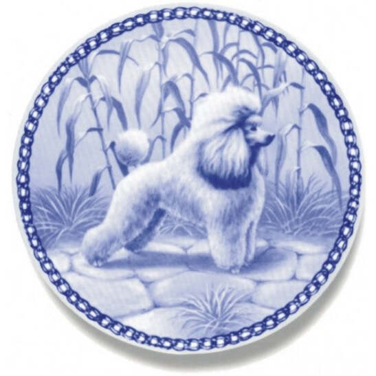 Toy Poodle Dog Plate Made In Denmark From The Finest European Porcelain Ebay
