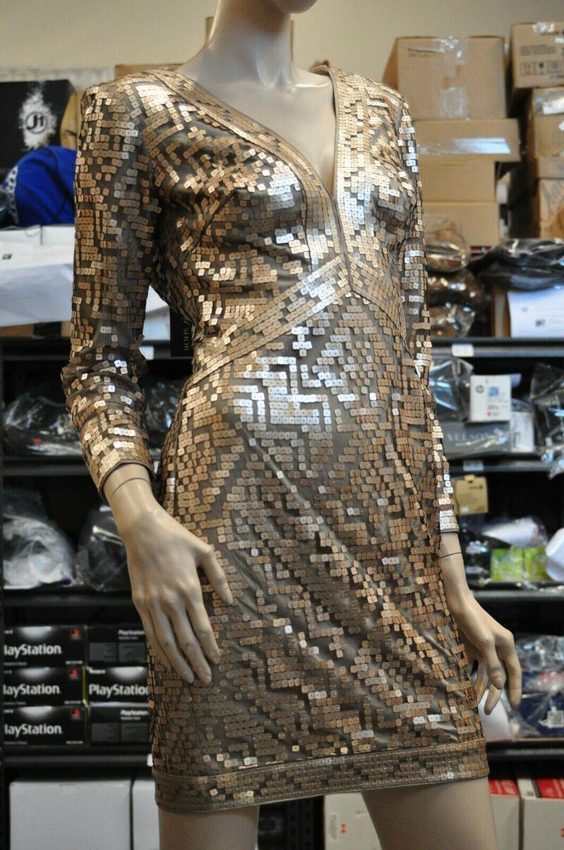 Nwt Tadashi Shoji Sequin Short Gown Size 2 Rose Gold Dress Cocktail Ebay