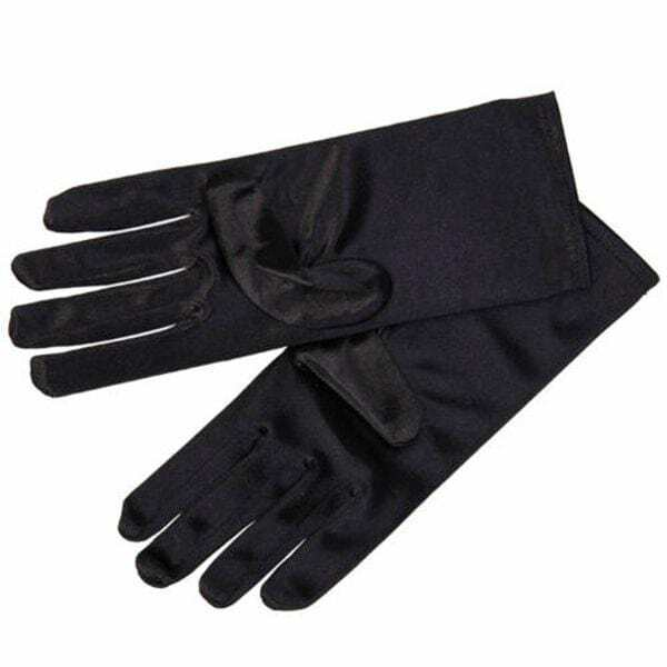 Wrist Length Black Evening Gloves Audrey Hepburn Opera Prom Formal Costume
