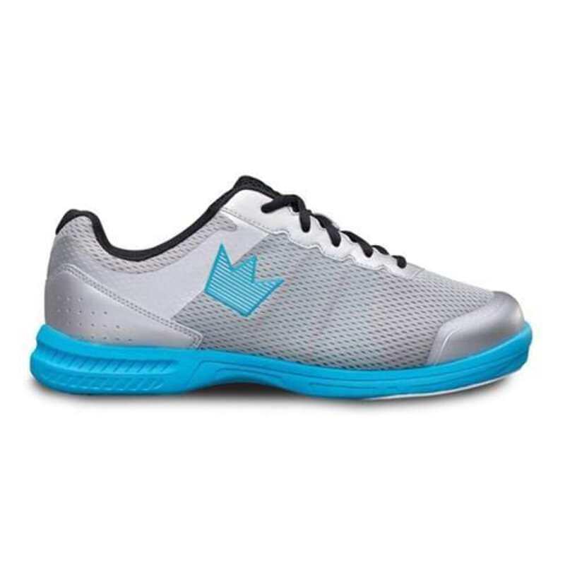 Silver//Sky Blue Brunswick Mens Fuze Bowling Shoes