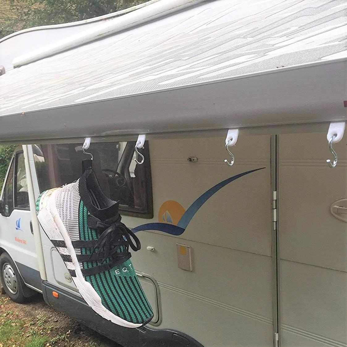 TOTMOX 6 PCS Awning Hook Ring Clothes hanger Clip String Hooks For RV Caravan Motorhome Camper