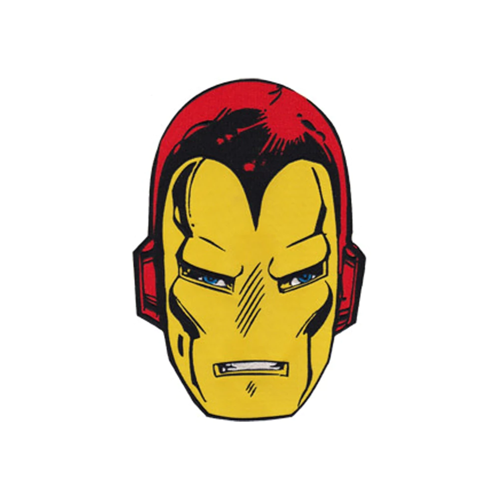 Marvel Avengers Ironman helmet motif iron or sew on  patch appliqué embroidery