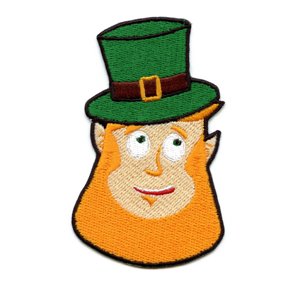 Patrick/'s Day Irish Embroidered Iron On Patch Dabbing Leprechaun St
