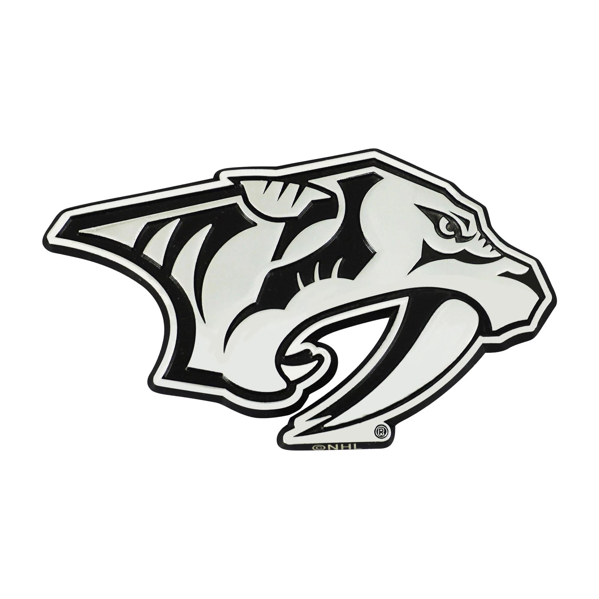 Nashville Predators Heavy Duty Metal 3-D Color Auto Emblem