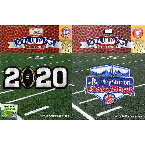 2020 College Playoff Jersey Patch /& Playstation Fiesta Bowl NCAA Patch Combo
