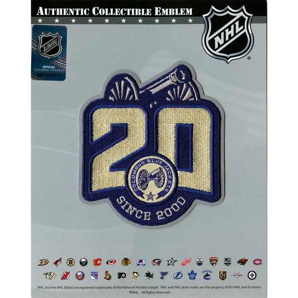 Columbus Blue Jackets 20th Anniversary Jersey Patch Alternate Version 2020-21