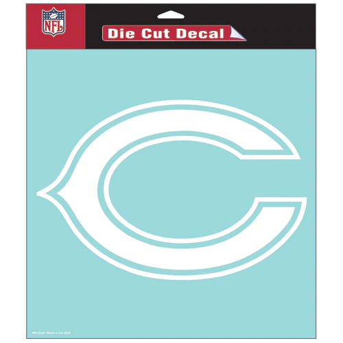 Wincraft Nfl chicago bears 8-by-8 inch diecut colored decal ?c logo