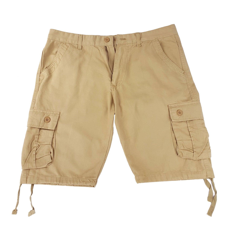 Da uomo-estate-casual-Cargo cotone-con cintura-Nuovo con Scatola Camouflage-ESERCITO-pants-pantaloncini