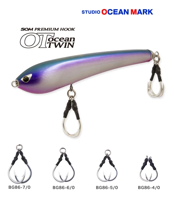 Studio Ocean Mark Premium Hook OceanTWIN BG86 for GT Plugging Game S.O.M