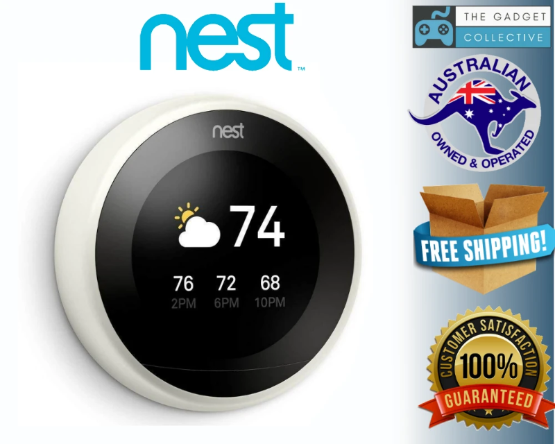 Details About Nest 3rd Gen Learning Thermostat Temperature Control White T3017us