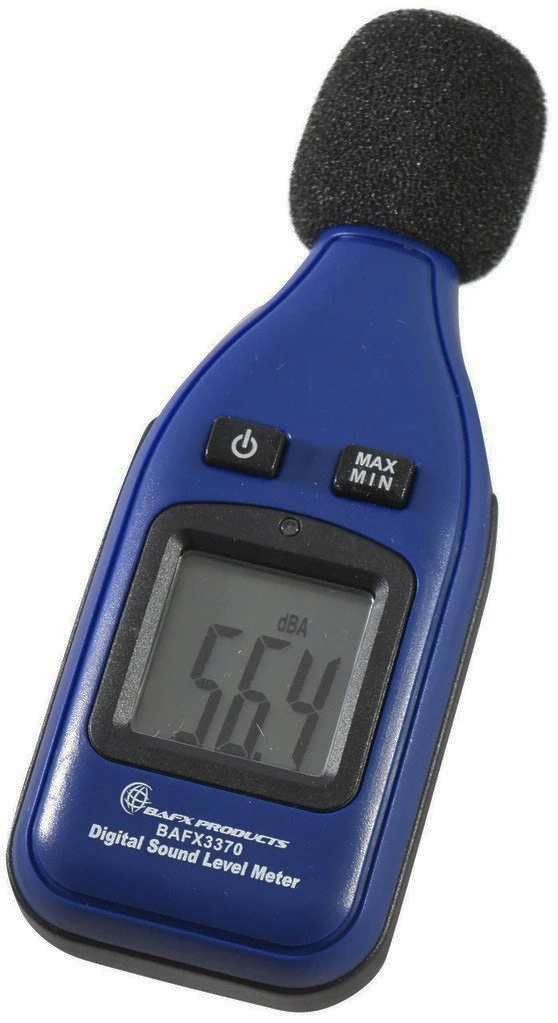Decibel Meter Range 30-130dBA Manual//Auto Shutoff with Max//Min//Hold Data Battery Included Large LCD Backlight Display Eventek Digital Sound Level Meter Accuracy 1.5dBA