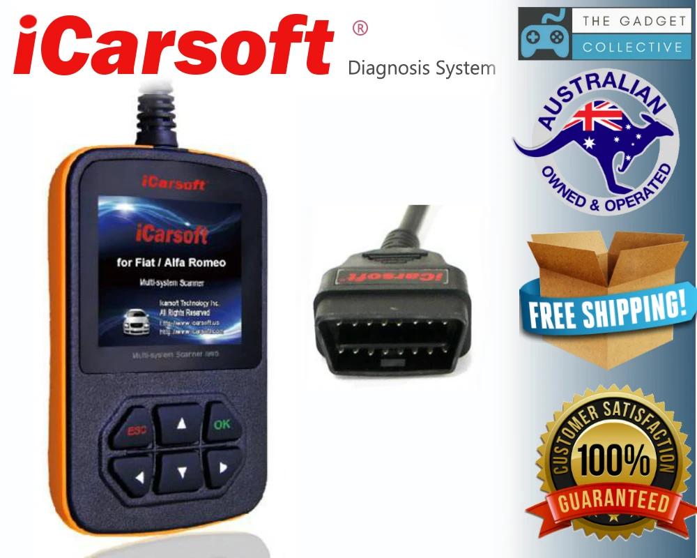 ICARSOFT FT II FIAT ALFA ROMEO OBD2 CAR DIAGNOSTIC CODE SCANNER TOOL 2ND GEN