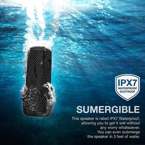 Details about Photive Hydra 2 Portable Waterproof Bluetooth Speaker - Dual  Subwoofers IPX7 Rat