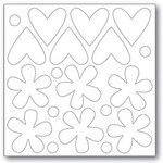 Hearts and Flowers Chipboard Chips
