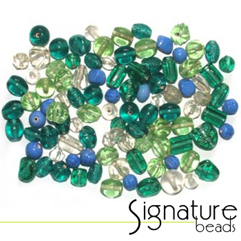 Seafoam Signature Glass Bead Mix