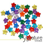 Transparent Stars Acrylic Pony Beads