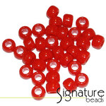 Opaque Red Acrylic Pony Beads