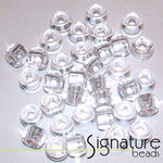 Transparent Crystal Acrylic Pony Beads