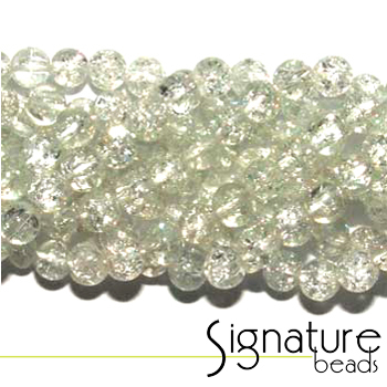Crystal 4mm Chinese Crackled Glass Beads