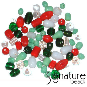Christmas Signature Glass Bead Mix