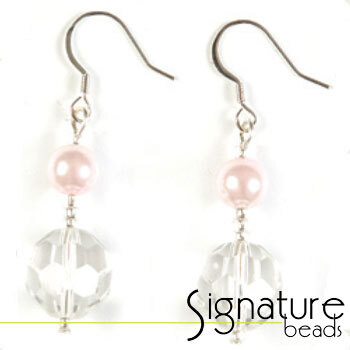 Crystal and Pearl Earring Pink Kit
